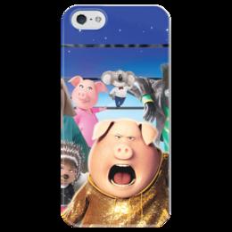 """Чехол для iPhone 5 глянцевый, с полной запечаткой """"Зверопой"""" - музыка, животные, мультфильм, песня, зверопой"""