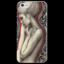 "Чехол для iPhone 5 глянцевый, с полной запечаткой ""Girl."" - арт, девушка, girl, графика, абстракция"