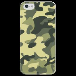"""Чехол для iPhone 5 глянцевый, с полной запечаткой """"камуфляж"""" - камуфляж, милитари, camo"""