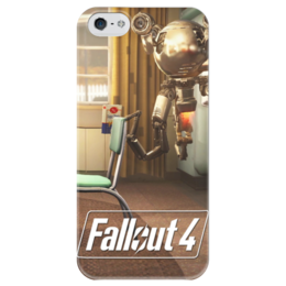 "Чехол для iPhone 5 глянцевый, с полной запечаткой ""Fallout 4 Mr.Handy Bot"" - fallout, fallout 4, mister handy, мистер помощник"