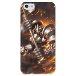 """Чехол для iPhone 5 глянцевый, с полной запечаткой """"Рейнхард"""" - blizzard, близзард, overwatch, овервотч, reinhardt"""