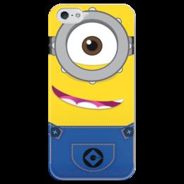 """Чехол для iPhone 5 глянцевый, с полной запечаткой """"Миньоны"""" - гадкий я, миньоны, minion, миньон"""