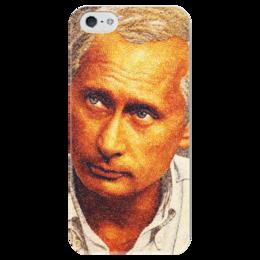 """Чехол для iPhone 5 глянцевый, с полной запечаткой """"Путин"""" - дизайн, путин, ввп"""