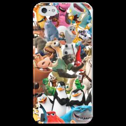 """Чехол для iPhone 5 глянцевый, с полной запечаткой """"Cartoons"""" - мультяшки, мультфильм, для детей, персонажи, pixar"""