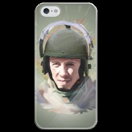 """Чехол для iPhone 5 глянцевый, с полной запечаткой """"Спецназ"""" - арт, война, россия, боец, солдат, хаки, военный, спецназ"""