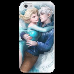 """Чехол для iPhone 5 глянцевый, с полной запечаткой """"Холодное сердце"""" - арт, frozen, холодное сердце, эльза"""