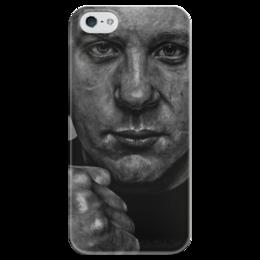 """Чехол для iPhone 5 глянцевый, с полной запечаткой """"Fedor Emelianenko"""" - mma, федор емельяненко, fedor emelianenko"""