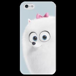 """Чехол для iPhone 5 глянцевый, с полной запечаткой """"Гиджет"""" - тайная жизнь домашних животных, гиджет, the secret life of pets, gidget"""