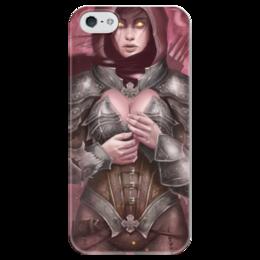 """Чехол для iPhone 5 глянцевый, с полной запечаткой """"Demon Hunter"""" - blizzard, диабло, близзард, diablo iii, охотница на демонов"""