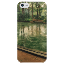 """Чехол для iPhone 5 глянцевый, с полной запечаткой """"Иер. Эффект дождя"""" - картина, кайботт"""