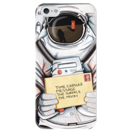 """Чехол для iPhone 5 глянцевый, с полной запечаткой """"Space. NASA"""" - космос, космический, звезды, вселенная, thespaceway"""