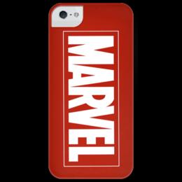 """Чехол для iPhone 5 глянцевый, с полной запечаткой """"Marvel"""" - comics, комиксы, marvel"""