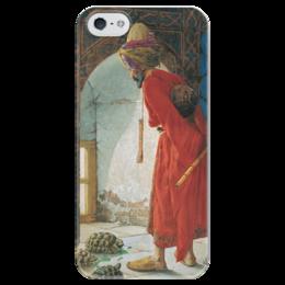 """Чехол для iPhone 5 глянцевый, с полной запечаткой """"Дрессировщик черепах"""" - картина, хамди"""