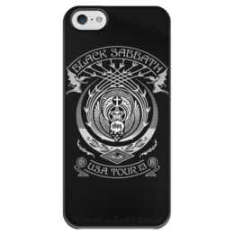 """Чехол для iPhone 5 глянцевый, с полной запечаткой """"Black Sabbath"""" - metal, рок, группы, black sabbath, ozzy osbourne"""