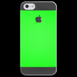 """Чехол для iPhone 5 глянцевый, с полной запечаткой """"Джунгли"""" - iphone, green"""