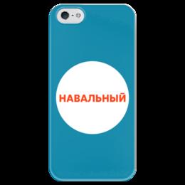 """Чехол для iPhone 5 глянцевый, с полной запечаткой """"Навальный20!8"""" - навальный, политика, 2018"""