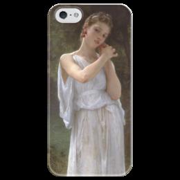 """Чехол для iPhone 5 глянцевый, с полной запечаткой """"Серьги (Boucles d'oreilles)"""" - картина, бугро"""