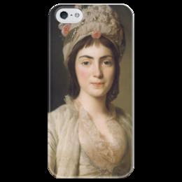 """Чехол для iPhone 5 глянцевый, с полной запечаткой """"Портрет Зои Гики"""" - картина, рослин"""