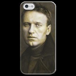 """Чехол для iPhone 5 глянцевый, с полной запечаткой """"Навальный Алексей """" - россия, навальный, политика, президент, либерал"""