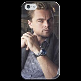 """Чехол для iPhone 5 глянцевый, с полной запечаткой """"Леонардо ДиКаприо"""" - леонардо дикаприо, leonardo dicaprio"""