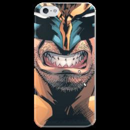 """Чехол для iPhone 5 глянцевый, с полной запечаткой """"Росомаха"""" - логан, люди икс, комиксы, марвел, wolverine"""