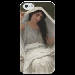 """Чехол для iPhone 5 глянцевый, с полной запечаткой """"Вуаль (Le voile)"""" - картина, бугро"""