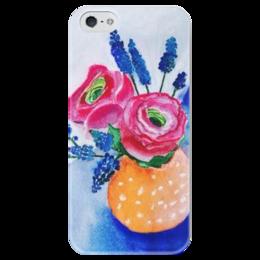 """Чехол для iPhone 5 глянцевый, с полной запечаткой """"Букет """"Лето"""""""" - праздник, цветы, в подарок, оригинально, анастасияцапко, новыйгод"""