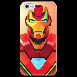 "Чехол для iPhone 5 глянцевый, с полной запечаткой ""iron man"" - marvel, ironman"