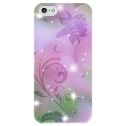 """Чехол для iPhone 5 глянцевый, с полной запечаткой """"Лилия"""" - цветок, лилия"""