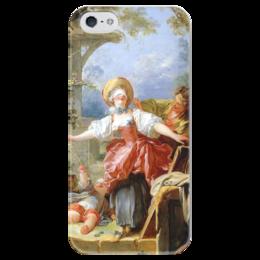 """Чехол для iPhone 5 глянцевый, с полной запечаткой """"Игра в прятки"""" - картина, фрагонар"""