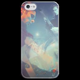 """Чехол для iPhone 5 глянцевый, с полной запечаткой """"MUSE."""" - рок, muse, беллами, мьюз, для мьюзеров, мэтт беллами, мэтт"""