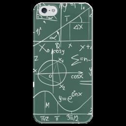 """Чехол для iPhone 5 глянцевый, с полной запечаткой """"Математика"""" - символы, математика, формулы, графики, константы"""