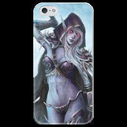 "Чехол для iPhone 5 глянцевый, с полной запечаткой ""Sylvanas Windrunner"" - blizzard, world of warcraft, варкрафт, близзард, сильвана"