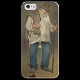 """Чехол для iPhone 5 глянцевый, с полной запечаткой """"Тряпичник"""" - картина, мане"""