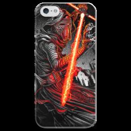 """Чехол для iPhone 5 глянцевый, с полной запечаткой """"Кайло Рен (Kylo Ren)"""" - star wars, звездные войны, кайло рен, kylo ren, бен соло"""