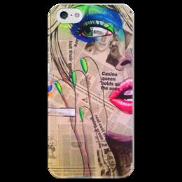 "Чехол для iPhone 5 глянцевый, с полной запечаткой ""Girl                          "" - арт, рисунок, pop, girl"