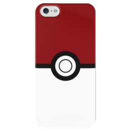 """Чехол для iPhone 5 глянцевый, с полной запечаткой """"Покебол. Покемоны"""" - покемон, покемоны, покебол, pokemon go, pokeball"""