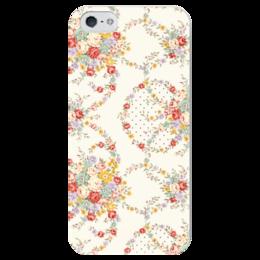 """Чехол для iPhone 5 глянцевый, с полной запечаткой """"Цветы"""" - цветы, цветок, роза, листья, букет"""