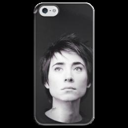 """Чехол для iPhone 5 глянцевый, с полной запечаткой """"Земфира """" - zemfira, alternative rock, земфира рамазанова, русский рок"""