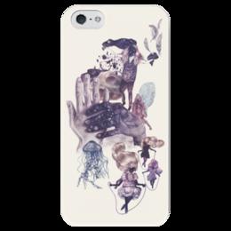"""Чехол для iPhone 5 глянцевый, с полной запечаткой """"Прочь от стереотипов"""" - философия, стереотипы"""