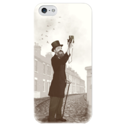 """Чехол для iPhone 5 глянцевый, с полной запечаткой """"Винтажное селфи"""" - винтаж, vintage, iphone5, селфи, selfie"""