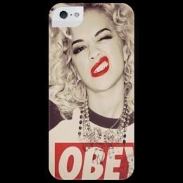 """Чехол для iPhone 5 глянцевый, с полной запечаткой """"Must be..."""" - девушка, стиль, swag, obey, r&b, rita ora, рита ора, culture"""
