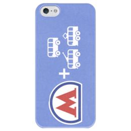 """Чехол для iPhone 5 глянцевый, с полной запечаткой """"""""Билет Метро"""""""" - metro, ticket, метрополитен, москва"""