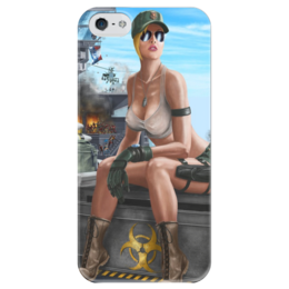 "Чехол для iPhone 5 глянцевый, с полной запечаткой ""Sonya Blade"" - mortal kombat, mk, sonya"