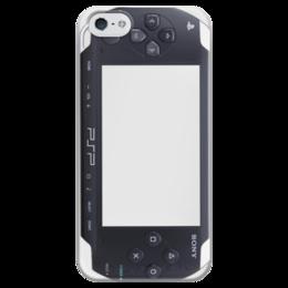 "Чехол для iPhone 5 глянцевый, с полной запечаткой ""Playstation Portable"" - psp, ps, playstation, плейстейшн, sony, playstation portable"