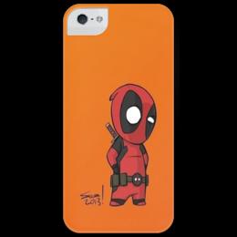 "Чехол для iPhone 5 глянцевый, с полной запечаткой ""Deadpool "" - marvel, anti-hero, дэдпул, антигерой"