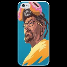 """Чехол для iPhone 5 глянцевый, с полной запечаткой """"Хайзенберг ( Во все тяжкие)"""" - сериалы, во все тяжкие, breaking bad"""