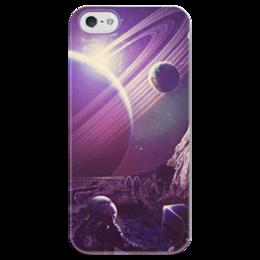 """Чехол для iPhone 5 глянцевый, с полной запечаткой """"Космос 2100"""" - space, планета, космос, cosmos"""