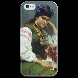 """Чехол для iPhone 5 глянцевый, с полной запечаткой """"Портрет Софьи Драгомировой"""" - картина, серов"""