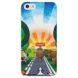 "Чехол для iPhone 5 глянцевый, с полной запечаткой ""Lollypups #10 (3D reality-show) "" - арт, баран"